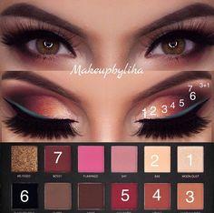 Gorgeous Makeup: Tips and Tricks With Eye Makeup and Eyeshadow – Makeup Design Ideas Eye Makeup Tips, Makeup Tools, Eyeshadow Makeup, Beauty Makeup, Makeup Ideas, Makeup Products, Beginner Makeup Kit, Makeup For Beginners, Huda Beauty Rose Gold Palette