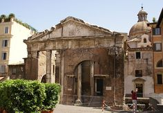 Rom, Via di Portico d'Ottavia, Portikus der Octavia (Portico of Octavia)