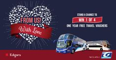 We would like to treat our valued customers with some random acts of kindness during the month of love. Not only do we have fantastic specials running this month, we have an even bigger surprise! Visit one of our terminals between 1 and 28 February 2017 to book your ticket and stand a chance to win 1 of 4 One Year FREE travel vouchers. T&Cs apply. https://www.greyhound.co.za/february-2017-competition-tcs/ #GreyhoundLovesYou