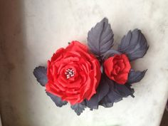 A beautiful, red and grey silk Roses perfect for weddings, special occasions or everyday prettiness.  This full Roses has been handmade using layers