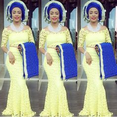 Trending Yellow Aso Ebi Styles for Wedding | http://maboplus.com/trending-yellow-aso-ebi-styles-for-wedding/ Maboplus