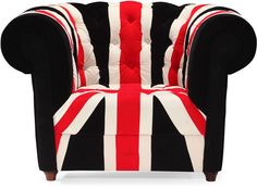 Union Jack Print Arm Chair