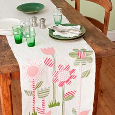 Cute/quick table runner for spring