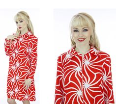 60s Abstract Dress Mod Psychedelic Mad Men by neonthreadsdesigns, $32.00