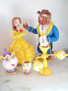 Topo de Bolo, A Bela e a Fera