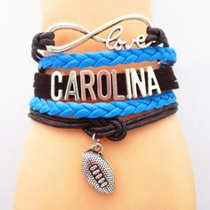 TODAY'S SPECIAL OFFER BUY 1 OR MORE, GET 1 FREE - $19.99! Limited time offer - Infinity Love North Carolina Football Team Bracelet on Sale. Buy one or more bracelets and we will give you one extra bra