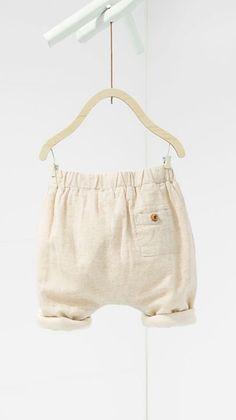 buttoned pocket harem pants