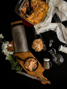 Baked Spicy Tomato & Makeshift Béchamel Pasta for Two | by termiNatetor