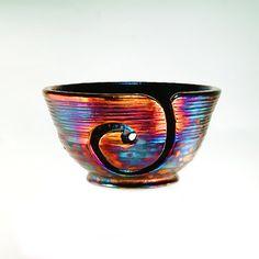 Callista Ceramic Yarn Bowl Raku Pottery YB13156 by CHpottery, $38.50