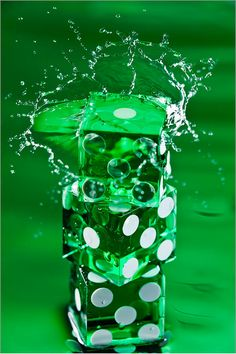 Green Dice Splash Art Print by Steve Gadomski Green Life, Green Day, Go Green, Green Colors, Kelly Green, Bright Green, World Of Color, Color Of Life, Mean Green