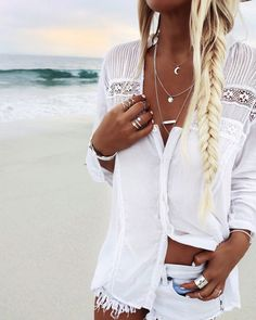 Summer Style :: Beach Boho :: Festival Outfits :: Gypsy Soul :: Bohemian Beauty :: Hippie Spirit :: Free your Wild :: See more Untamed Fashion + Style Inspiration @untamedorganica :: GypsyLovinLight jewelry