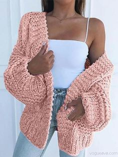 Pullover Design, Sweater Design, Knit Fashion, Sweater Fashion, Pullover Mode, Cardigan En Maille, Oversized Knit Cardigan, Cotton Cardigan, Cardigan Azul