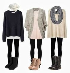 Adorable black sweater and black leggings and other outfits for fall Fun and Fashion Blog