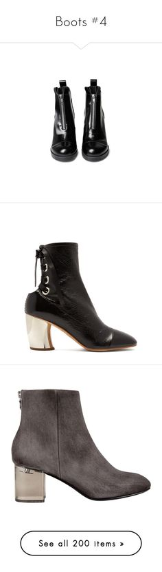 """Boots #4"" by webuildbridgesnotwalls ❤ liked on Polyvore featuring shoes, boots, ankle booties, thick heel boots, thick heel bootie, ankle boots, chunky heel ankle boots, thick booties, black and black leather booties"