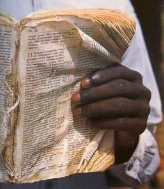 This picture speaks volumes .... We have no idea how seriously people treasure the Bible in third-world countries!