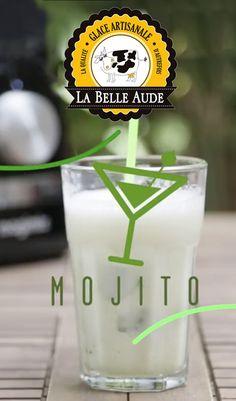 """Bonjour les Amis! Pour faire pétiller votre été je vous présente le """"Cocktail Granité Virgin Mojito"""" sans alcool avec les Glaces de la Belle Aude : citrons verts, sucre de canne, menthe, eau gazeuse et le sorbet Mojito La Belle Aude🍹🍹 😍 Mmmmmmeuuuh! Ca a l'air bon, n'est-ce pas ? Tous à vos blinder ! Votre Belle Aude"""