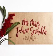 Items similar to Calligraphy for Wedding Envelopes, Envelope Addressing & Handlettering by KisforCalligraphy on Etsy