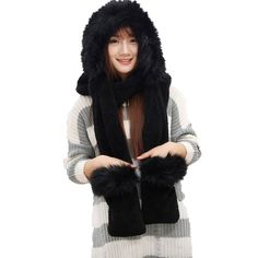 Fashion Land Couples Velveteen Fox Fur Collar Hat Scarf | Get FREE Samples by Mail | Free Stuff