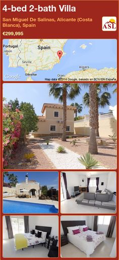 4-bed 2-bath Villa in San Miguel De Salinas, Alicante (Costa Blanca), Spain ►€299,995 #PropertyForSaleInSpain