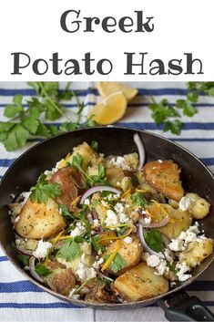 This is my recipe! Had no idea they are called greek potatoes!   Easy Greek Potato Hash