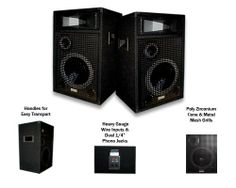 """Acoustic Audio BR10-2PKG 1600W Pair Pro DJ 10""""3Way PA Monitor Speakers by Acoustic Audio. $149.99. These speakers are designed for use in both professional audio and home audio entertainment applications. They are the perfect complement to any PA system, studio monitor, home theater system or other audio application requiring powerful and professional grade sound quality. Each speaker will handle 800 watts of power (400 watts RMS), and features a bass reflex des..."""