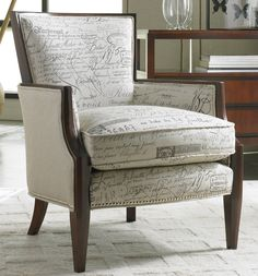 Sam Moore Nadia Upholstered Exposed Wood Accent Chair Belfort Furniture Washington Dc Northern Virginia Maryland An