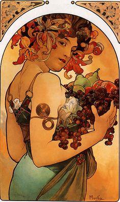 Le Fruit  Alphonse Mucha; lithograph; 1897.