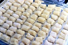 Homemade gnocchi without a potato ricer. For Andrew's birthday dinner.