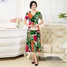 new women dress elegant one-piece summer dress floral print plus size women clothing vestidos femininos