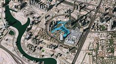 Vista aérea do centro de Dubai - NASA