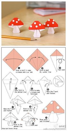 Origami - mushrooms