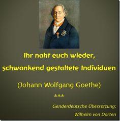 Goethe in genderdeutscher Übersetzung
