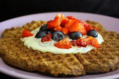 Terapia do Tacho: Waffle de alfarroba sem açúcar (Sugar free carob waffle)