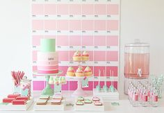 Dessert table, cake, and backdrop | Community Post: 18 Colorful Pantone Projects