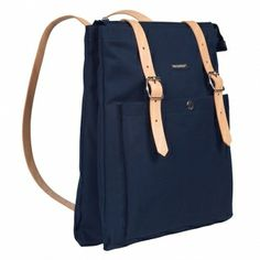 Dark blue Eppu backpack by Marimekko.