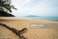 Stock Photo : Scenic view of the sandy beach in Sibu island of Johor, Malaysia