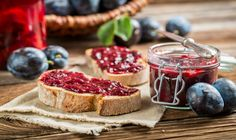 The easiest way to make homemade jelly and jam with the Ball FreshTECH Automatic Jam & Jelly Maker. How to make homemade pomegranate jelly. Plum Jam Recipes, Culinary Lavender, Homemade Jelly, Fruit Jam, Delicious Fruit, Summer Fruit, Snack, Baking Recipes, Snacks