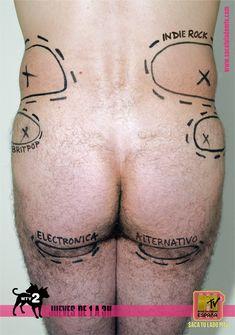 Resultado de imagen de saca tu lado mtv Mtv, Marketing Viral, Funny Ads, Britpop, Tv On The Radio, Plastic Surgery, Tattoo Quotes, Indie, Advertising