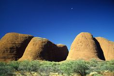 Kata Tjuta - Olga Mountains, Northern Territory, Australia  (Scan from the archive 1996)