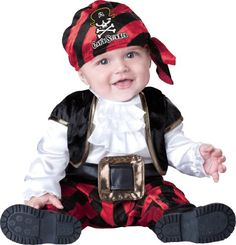 Cute Halloween Costumes for Newborn Babies. pirate costume for infants