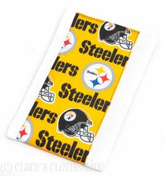 Baby Burp Cloth  Pittsburgh Steelers Football Burp Cloth by ClaresClothesline, $6.00
