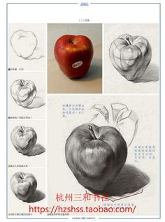 61 Ideas for fruit drawing pencil sketches Shading Drawing, Basic Drawing, Painting & Drawing, Academic Drawing, Drawing Studies, Pencil Shading Techniques, Art Techniques, Anatomy Drawing, Anatomy Art