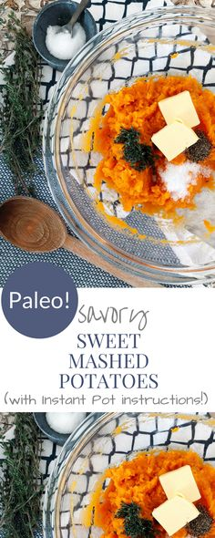 This PALEO savory sweet mashed potato recipe will become your new side dish staple! It is so creamy and delicious! Easy Vegetable Side Dishes, Paleo Side Dishes, Vegetable Sides, Mashed Sweet Potatoes, Sweet Potato Casserole, Mashed Potato Recipes, Best Instant Pot Recipe, Delicious Sandwiches, Cuisine
