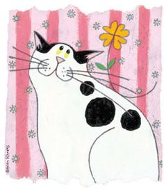 cat art | Keep On Smiling a limited edition print by Helen Rhodes