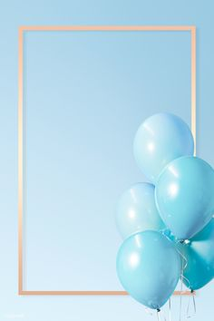 Pastel blue rectangle golden frame | premium image by rawpixel.com / HwangMangjoo Flower Background Wallpaper, Framed Wallpaper, Pastel Wallpaper, Flower Backgrounds, Wallpaper Backgrounds, Balloon Background, Instagram Png, Instagram Frame, Ballons Fotografie