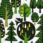 Graphic Japanese Woodland  - Green