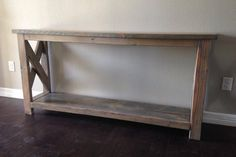 Custom Entry Way Hallway Sofa Table solid wood pine image 1 Rustic Wood, Decor, Sofa Table, Wood Table Diy, Chalk Paint Coffee Table, Traditional Interior Design, Grey Stained Wood, Chevron Coffee Tables, Entryway