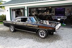 """abigdumbanimal: """"Bad in Black """" Best Muscle Cars, American Muscle Cars, Plymouth Muscle Cars, Road Runner, Expensive Cars, Dodge Charger, Car Parts, Mopar, Cars Motorcycles"""