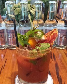 """It's brunch time! Get your daily dose of Vitamin C with one of our awesome Bloody Mary's $6 or with one of our Seasonal Mimosas $6 (Saturday and Sunday brunch only). #cometothelarkside #dallasbrunch #bloodymary #farmtofork #brunchcocktails #weekendfun #patioseason"" via @larkonthepark"