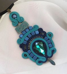 Excited to share the latest addition to my #etsy shop: Soutache necklace, Teal necklace teal jewelry gift teal jewelry for her green teal bead jewelry gift women emerald green necklace http://etsy.me/2nRTTAB #sutaszula #soutache